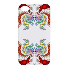 Fractal Kaleidoscope Of A Dragon Head Apple Iphone 4/4s Hardshell Case by Amaryn4rt