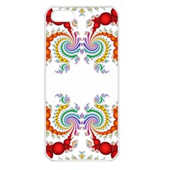 Fractal Kaleidoscope Of A Dragon Head Apple Iphone 5 Seamless Case (white) by Amaryn4rt
