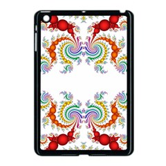 Fractal Kaleidoscope Of A Dragon Head Apple Ipad Mini Case (black) by Amaryn4rt