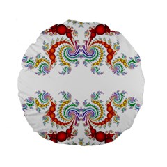 Fractal Kaleidoscope Of A Dragon Head Standard 15  Premium Flano Round Cushions by Amaryn4rt