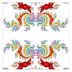 Fractal Kaleidoscope Of A Dragon Head Large Satin Scarf (square) by Amaryn4rt