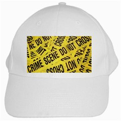 Crime Scene White Cap by Valentinaart