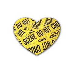 Crime Scene Rubber Coaster (heart)  by Valentinaart