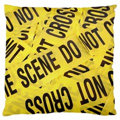 Crime Scene Large Cushion Case (two Sides) by Valentinaart