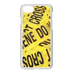 Crime Scene Apple Iphone 7 Seamless Case (white) by Valentinaart