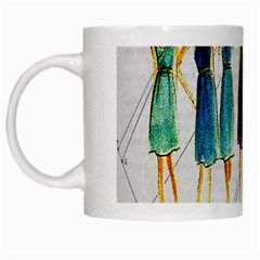 Fashion Sketch  White Mugs by Valentinaart