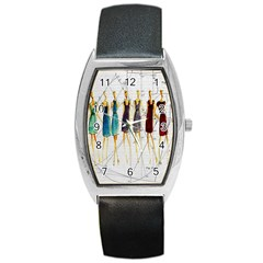 Fashion Sketch  Barrel Style Metal Watch by Valentinaart