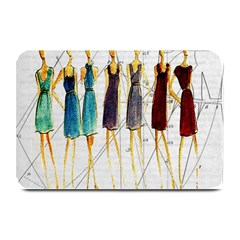 Fashion Sketch  Plate Mats by Valentinaart