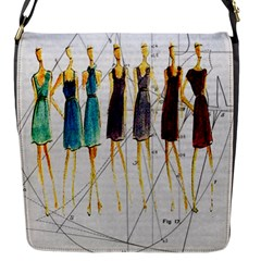 Fashion Sketch  Flap Messenger Bag (s) by Valentinaart