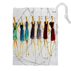 Fashion Sketch  Drawstring Pouches (xxl) by Valentinaart