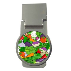Vegetables  Money Clips (round)