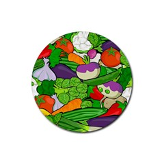Vegetables  Rubber Round Coaster (4 Pack)  by Valentinaart
