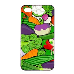 Vegetables  Apple Iphone 4/4s Seamless Case (black) by Valentinaart