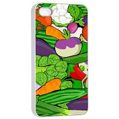 Vegetables  Apple Iphone 4/4s Seamless Case (white) by Valentinaart