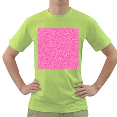 Pink Pattern Green T Shirt by Valentinaart