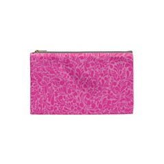 Pink Pattern Cosmetic Bag (small)  by Valentinaart