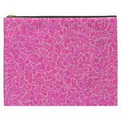 Pink Pattern Cosmetic Bag (xxxl)  by Valentinaart