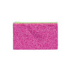 Pink Pattern Cosmetic Bag (xs) by Valentinaart