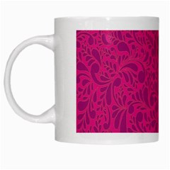 Pink Pattern White Mugs