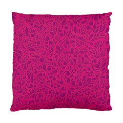 Pink Pattern Standard Cushion Case (two Sides) by Valentinaart