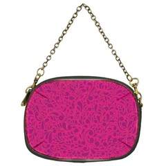 Pink Pattern Chain Purses (two Sides)  by Valentinaart