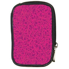 Pink Pattern Compact Camera Cases by Valentinaart