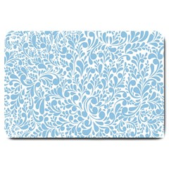 Blue Pattern Large Doormat  by Valentinaart