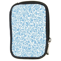 Blue Pattern Compact Camera Cases by Valentinaart