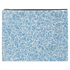 Blue Pattern Cosmetic Bag (xxxl)  by Valentinaart