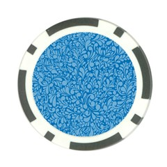 Blue Pattern Poker Chip Card Guard (10 Pack) by Valentinaart