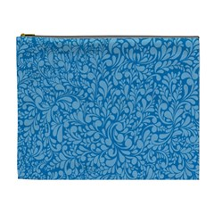 Blue Pattern Cosmetic Bag (xl) by Valentinaart