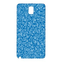 Blue Pattern Samsung Galaxy Note 3 N9005 Hardshell Back Case by Valentinaart