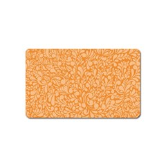 Orange Pattern Magnet (name Card) by Valentinaart