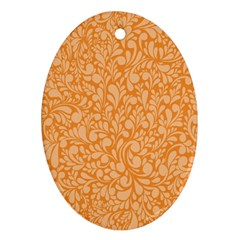 Orange Pattern Oval Ornament (two Sides) by Valentinaart