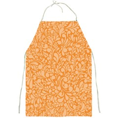 Orange Pattern Full Print Aprons