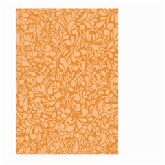Orange Pattern Large Garden Flag (two Sides) by Valentinaart