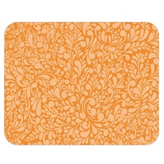 Orange Pattern Double Sided Flano Blanket (medium)  by Valentinaart
