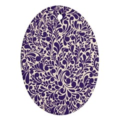 Purple Pattern Ornament (oval) by Valentinaart