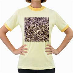 Purple Pattern Women s Fitted Ringer T-shirts by Valentinaart