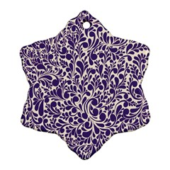 Purple Pattern Snowflake Ornament (two Sides) by Valentinaart