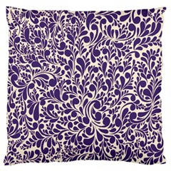 Purple Pattern Large Cushion Case (one Side) by Valentinaart