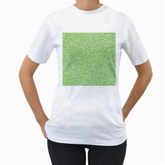 Green Pattern Women s T Shirt (white) (two Sided) by Valentinaart