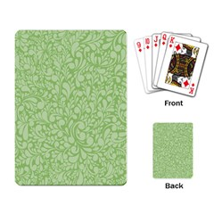 Green Pattern Playing Card by Valentinaart
