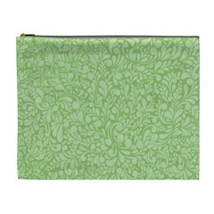 Green Pattern Cosmetic Bag (xl) by Valentinaart