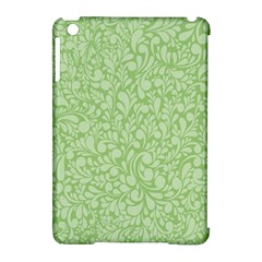 Green Pattern Apple Ipad Mini Hardshell Case (compatible With Smart Cover) by Valentinaart