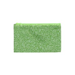 Green Pattern Cosmetic Bag (xs) by Valentinaart