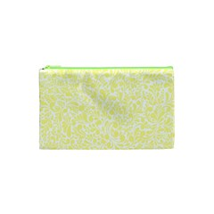 Yellow Pattern Cosmetic Bag (xs) by Valentinaart