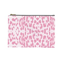 Leopard Pink Pattern Cosmetic Bag (large)  by Valentinaart