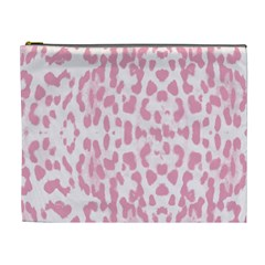 Leopard Pink Pattern Cosmetic Bag (xl) by Valentinaart