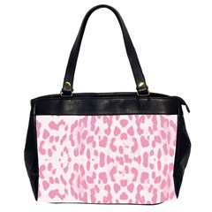 Leopard Pink Pattern Office Handbags (2 Sides)  by Valentinaart